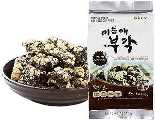 Premium Seaweed Sweet Rice Crisps Original Kelp Curry Side Dish Flavor Crunch Bites Korean Snack 1.41 Ounce (Pack of 6) No...