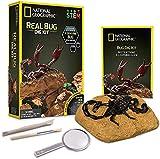 Bandai - National Geographic - Kit de fouille - 3 insectes à extraire - scorpion, coléoptère et araignée épineuse- Jeu scientifique et éducatif - STEM - JM00646