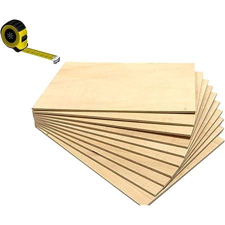 Contrachapado Fen/ólico de Okume Mesas WBP Muebles Corte a Medida: Grosor 1cm, 60 x 20 cm - Pack 2uds Tableros de Madera para Exterior