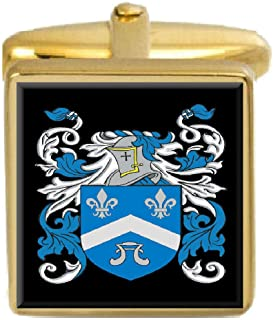 Wilson England Family Crest Surname Coat Of Arms Gold Cufflinks Engraved Box