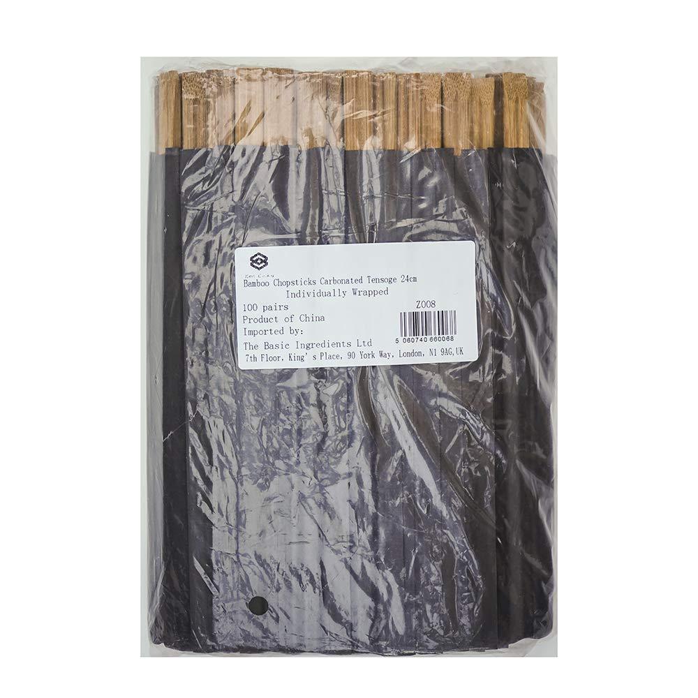 100 Pares Envueltos Individualmente Palillos De Bamb/ú Ken Chiku Tensoge 21cm Adultos Y Ni/ños Respetuoso Al Medio Ambiente Y Biodegradable Comida Chino Y Japon/és Natural