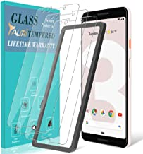 [3-Pack] TAURI Screen Protector for Google Pixel 3, Tempered Glass [Anti-Scratch] [Case Friendly] [Easy Install Alignment Frame] with Lifetime Replacement Warranty