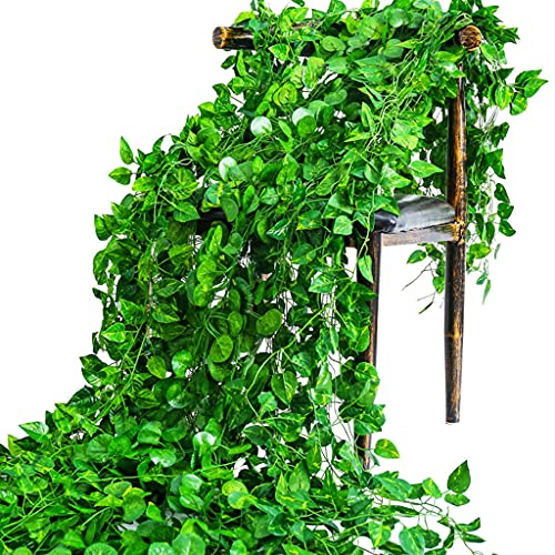 SHENGYANG,Fake Plants,Outdoor Artificial Plants,Artificial Ivy Leaf Plants Vine Hanging Garland,For Home Kitchen Garden Office Wedding Wall Decor-E
