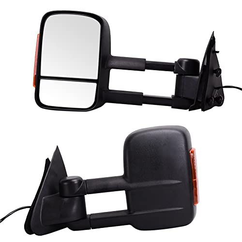 Catinbow Side View Mirror Leftright For Ford   F Towing Trailer Telescoping