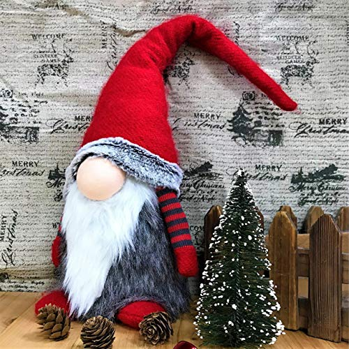 Christmas Gnomes, Handmade Christmas Gnome Decorations, 19 Inch Large Swedish Plush Tomte, Tonttu, Elves, Elf Doll, Nordic Scandinavian Santa Nisse, Xmas Tomten Ornaments Brings Good Luck to Your Home