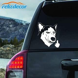 Felizdecor Vinyl Animals Car Sticker Husky Dog Decal Waterproof Removable Car Decor,Laptop Decals (6