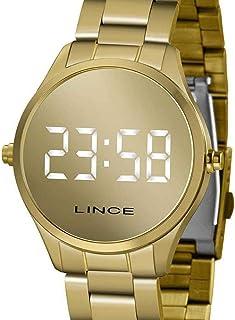 Relógio Lince Feminino Ref: Mdg4617l Bxkx Digital LED Dourado