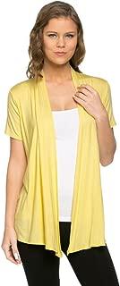 Women's Short Sleeve Draped Open Front Cardigan