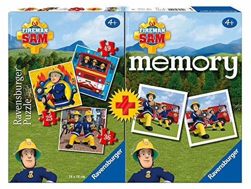 Ravensburger- Multipack Memory + 3 Puzzles, Sam el Bombero (06910)