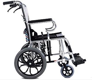 Wheelchair Aluminum Alloy Frame Travel Folding Transport Wheel Chair Portable Comfortable Fashion Seat Adult Elderly Disabled fgfhfggsdfsd/B SZWHO (Color : B)