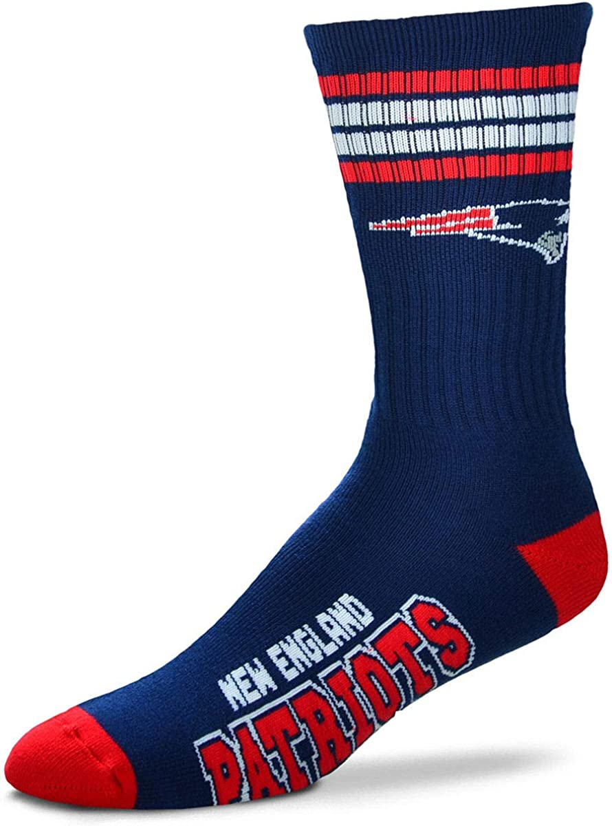 New England Patriots Bombing new work 504 4 Deuce Large Socks Mens All stores are sold Stripe