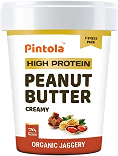 Pintola HIGH Protein Peanut Butter (ORGANIC JAGGERY) (Creamy, 510g)