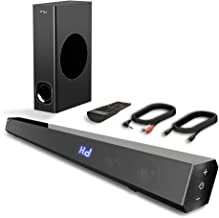 Sound Bar, TV Sound Bar with Subwoofer, 120W 2.1 Soundbar, Wired & Wireless Bluetooth..