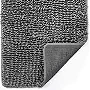 Gorilla Grip Indoor Durable Chenille Doormat, 48x30, Soft Absorbent Mat, Machine Wash Inside Mats, Low-Profile Rug Doormats for Entry, Back Door, Mud Room, Garage Floor, Home Décor Essentials, Grey