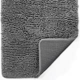 Gorilla Grip Soft and Absorbent Indoor Chenille Doormat, 30x20, Traps Water and Moisture, for Muddy Shoes and Dog Paws, Durable Backing, Washable, Rug Door Mat for Entry, High Traffic Areas, Grey
