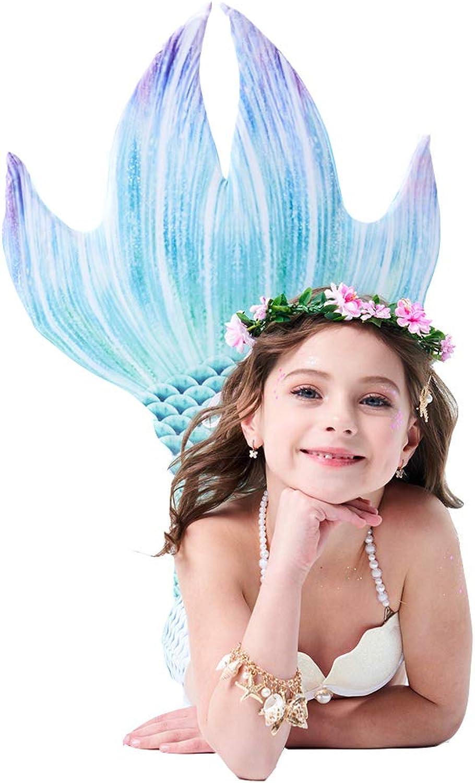 Jolie Mermaid Tails Swimwear Swimmable Bikini for Girls Kids Swimming Party Supplies (with Monofin)