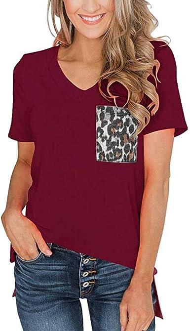 VEMOW Camisas Mujer Ropa de Mujer de Moda Camiseta Tops de ...