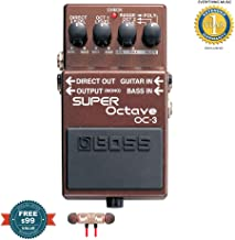Boss OC-3 SUPER Octave Pedal includes Free Wireless Earbuds - Stereo Bluetooth In-ear and 1 Year Everything Music Extended Warranty