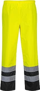Portwest Hi-Vis 2-Tone Trouser Viz Work Cargo Work Pants Reflective Waterproof Rain ANSI E