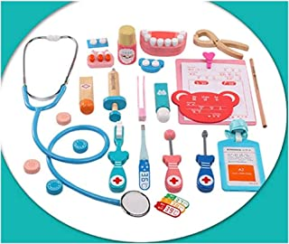 Beauenty Toy Doctor Kit Kids Doctor Pretend Play Kit Dentist Medical Role Simulation Medicine Box Play Educational Toy