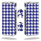 MightySkins Skin Compatible with Eleaf iStick 20W – Blue Houndstooth | Protective, Durable, and Unique Vinyl Decal wrap Cover | Easy to Apply, Remove, and Change Styles | Made in The USA