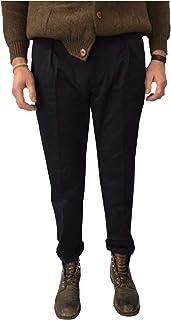 MANIFATTURA CECCARELLI Pantalone Uomo Chino Blu 7500 75% Cotone 25% Poliestere Made in Italy