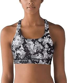 Women Racerback Sports Bras Classic camo Gym Yoga Bra Removable Pads