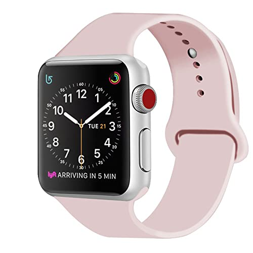 ZRO para Apple Watch Correa, Silicona Suave Reemplazo Sport Banda para 38mm iWatch Serie 3
