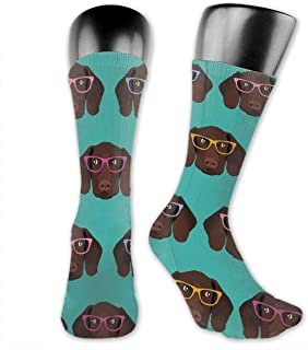 Athletic Running Socks Cushion Crew Socks Non Slide Compression Sock for Gym