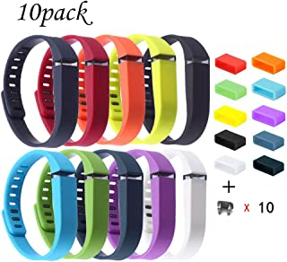 Compatible for Fitbit Flex Wristband,Replacement Accessory with Metal Clasp for Fitbit Flex Bracelet Sport Arm Band No Tracker (10PCS with- Ring-Large- $12.99, Large)