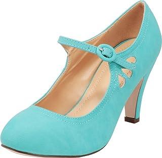 d4057559f81a Cambridge Select Women s Round Toe Mid Heel Mary Jane Dress Pump