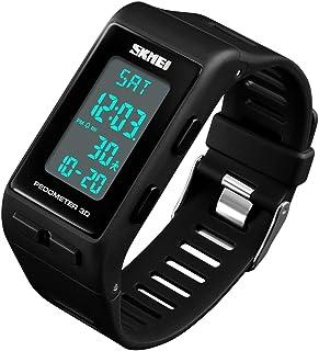 Unisex Quartz Digital Outdoor Sports Watch for Men Women Pedometer Calorie LED Electronic Wrist Watch