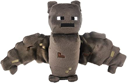 """Minecraft Overworld Bat ~7"""" Minecraft Mini-Plush Series Brown, 4.2inches"""