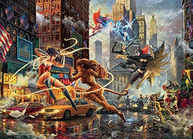 Ceaco Thomas Kinkade DC Collection Women of DC Jigsaw Puzzle, 1000 Pieces