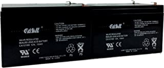 2 Pack CASIL 12v 10ah 12ah F2 Costco 360 Eco Electric Scooter Battery eZip 650, E650, E-650 Dalton Medical BAT-1212 Dart Formula 300 Veloce Data Shield 400 AT5000 E-Bike Boreem Battery