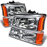 Best Headlights - DNA Motoring HL-OH-CS03-4P-CH-AM Chrome Amber Headlights Replacement For Review