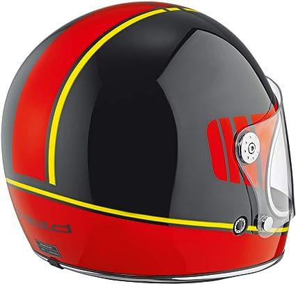 Held Root Motorradhelm Dekor Schwarz Rot Gelb M 57 58 Auto