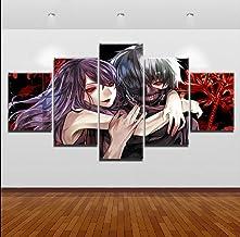 HY.Bohu Arte de la decoración de la Pared 5 Piezas Anime Tokyo Ghoul Ken Kaneki Rize Kamishiro Decoración Moderna de la Pared Pintura Arte de la Lona Impresiones Imagen Modular Decoración del hogar