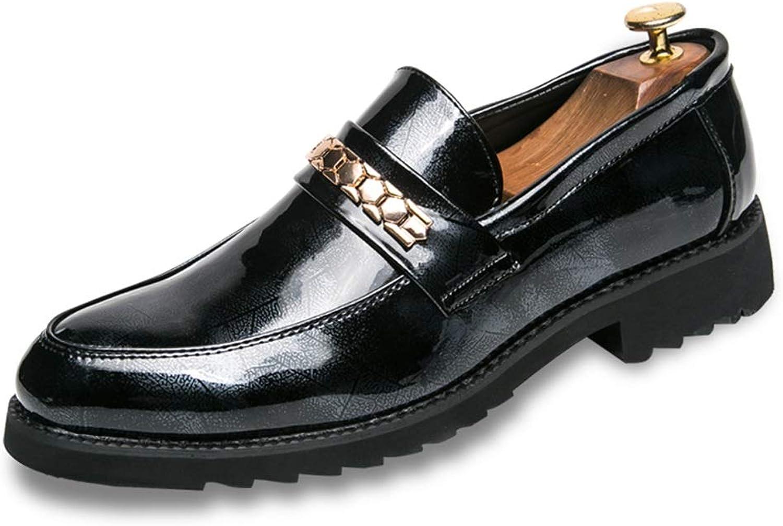 MUWU Manns brittiska stil Oxford Oxford Oxford läder skor Slip on Anti Slip Outole gående skor Vamp Decor with Chain (färg  svart, Storlek  6.5 D (M) US)  spara 50% -75% rabatt