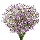 12 Stücke Künstliches Schleierkraut Kunstblumen Gypsophila Blumenstrauß Dekorative Künstliches Blumen für Zuhause Hochzeit Party Dekor Blumenstrauß