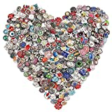 Soleebee HJ-K888 Mixed Random 18mm Alloy Rhinestones Snap Buttons Jewelry Charms (Pack of 30)