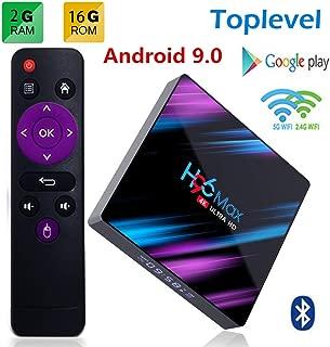 H96 Max Android 9.0 TV Box 2GB RAM/16GB, Penta-Core Mali-450 Up to 750Mhz+, RK3318 Quad-Core 64bit Cortex-A53, H.265 Decoding 2.4GHz/5GHz WiFi Smart TV Box