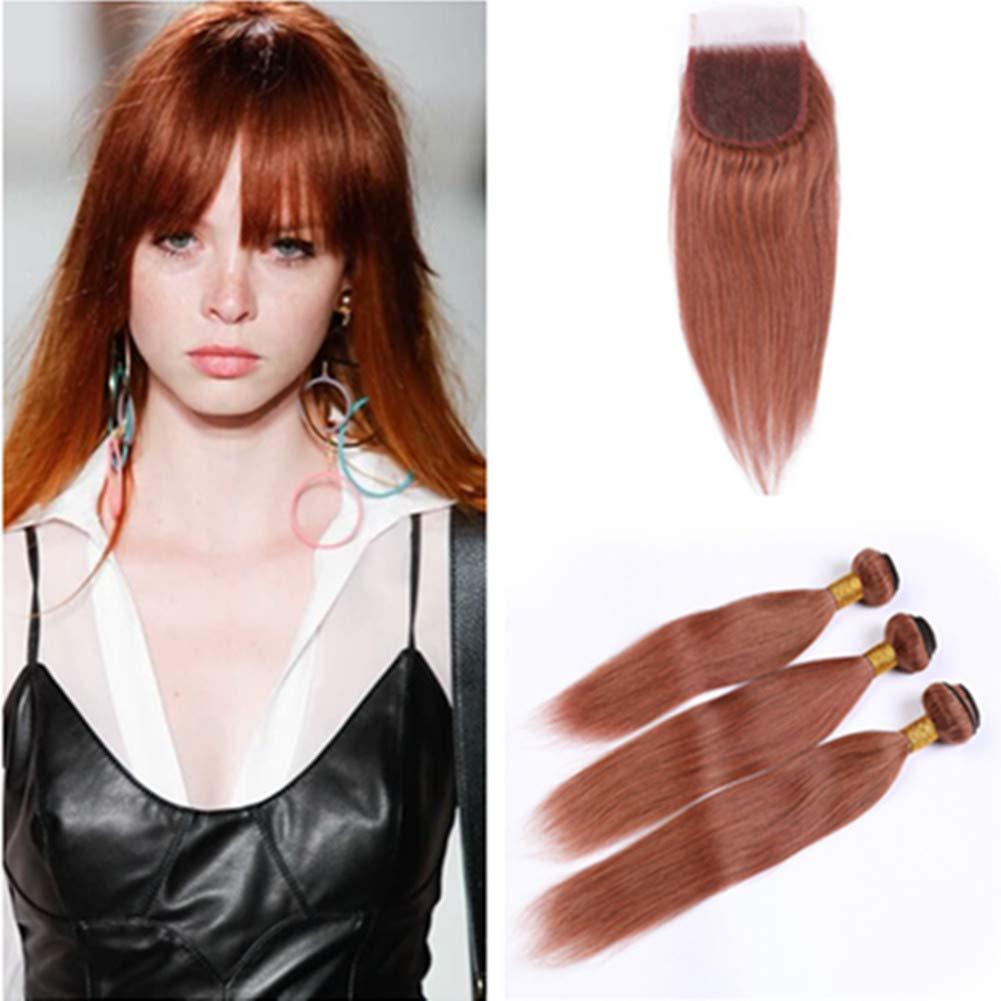Tony Beauty Hair #33 Copper Red Weaves New sales Human Peruvian Bun Tulsa Mall 3