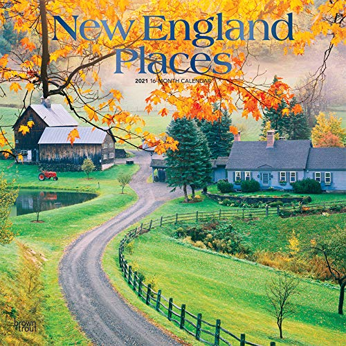 New England Places 2021 Calendar: Foil Stamped Cover