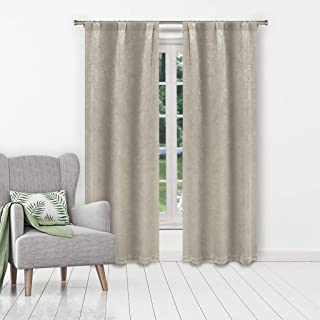Kelvin Marcy Blackout Window Curtain, 37 x 84 Inches, Mouse