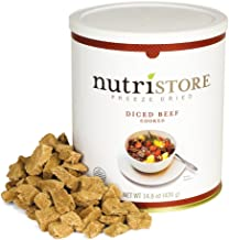 Nutristore Freeze Dried Beef Dices | Premium Quality | USDA Inspected | Amazing Taste | Perfect for Camping | Survival Food