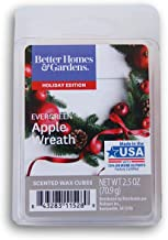 Seasonal Decor Holiday Edition Scents Wax Cubes - Evergreen Apple Wreath