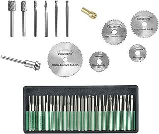 Diamond 43Pcs Engraving accessories Set Diamond Bit/Routing Bit/Saw Blade for Dremel Attachment