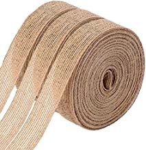 FOLAI 3 Rolls of Natural Burlap Fabric With Beautiful Burlap Ribbon Wedding Event Party And Home Decoration Long 10M Wide ...