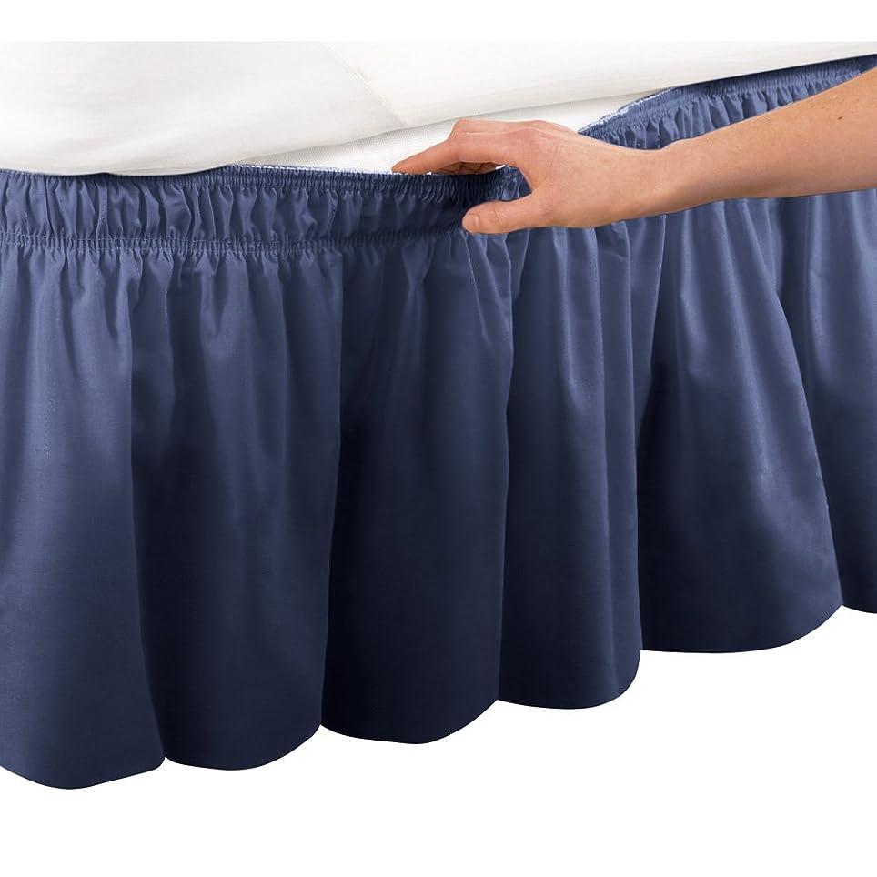 くさびピット到着するElastic Bed Wrap Ruffle Bed Skirt